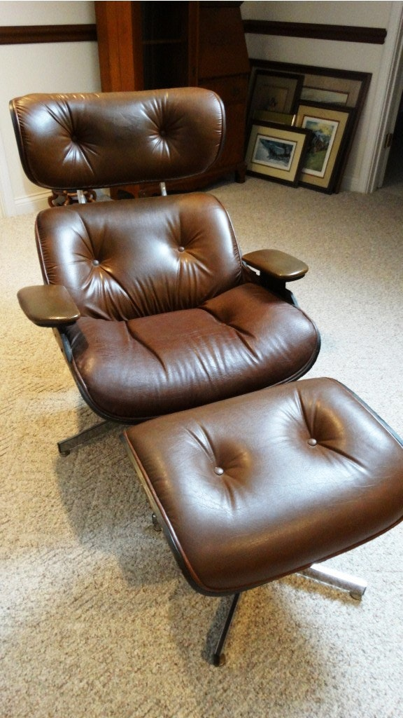 midcentury plycraft eames style lounge chair
