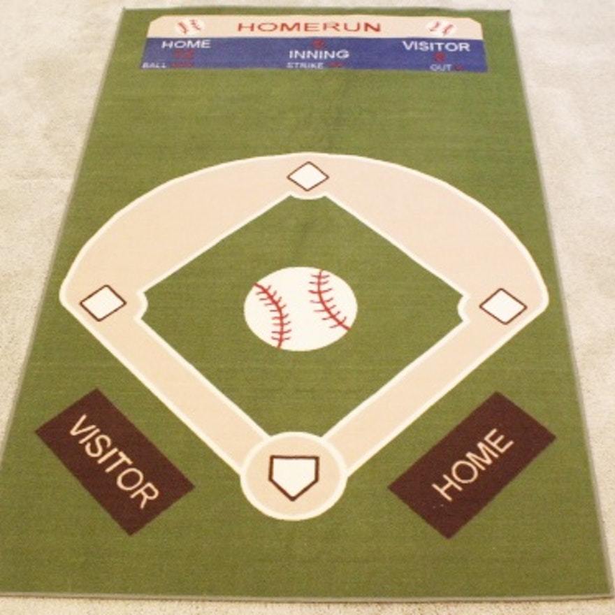 Baseball Diamond Rug