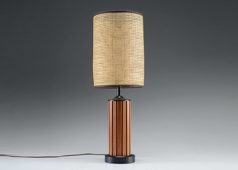 Mid Century Modern Wood Table Lamp