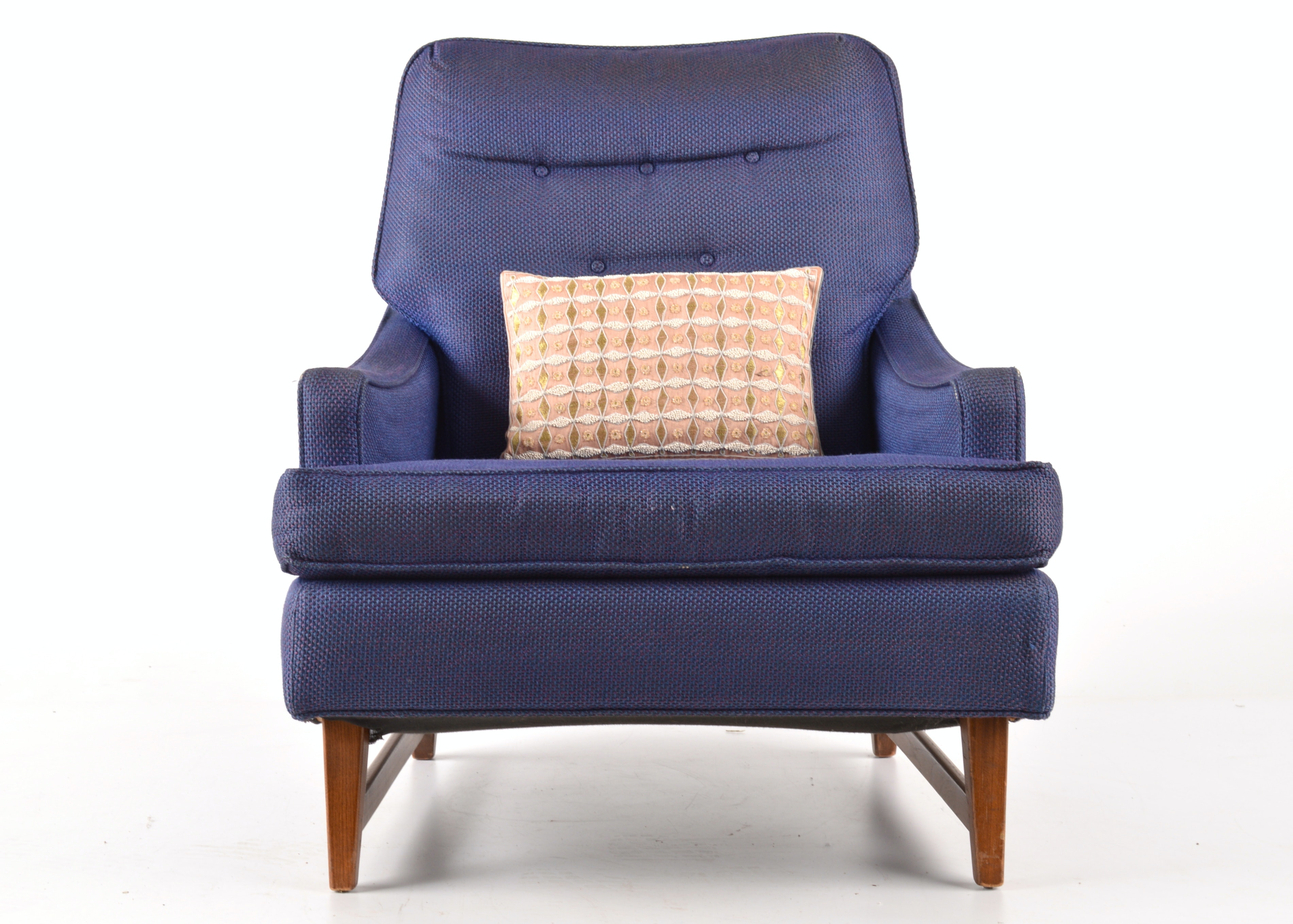 Mid Century Modern Armchair In Royal Blue