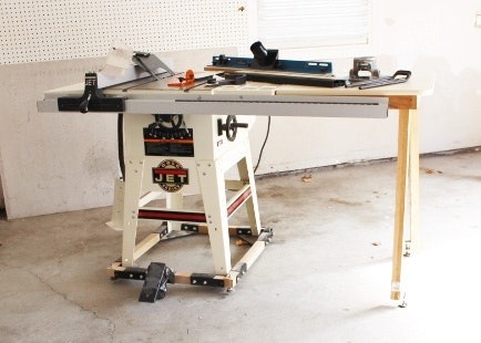 jet gold series tablesaw and accessories