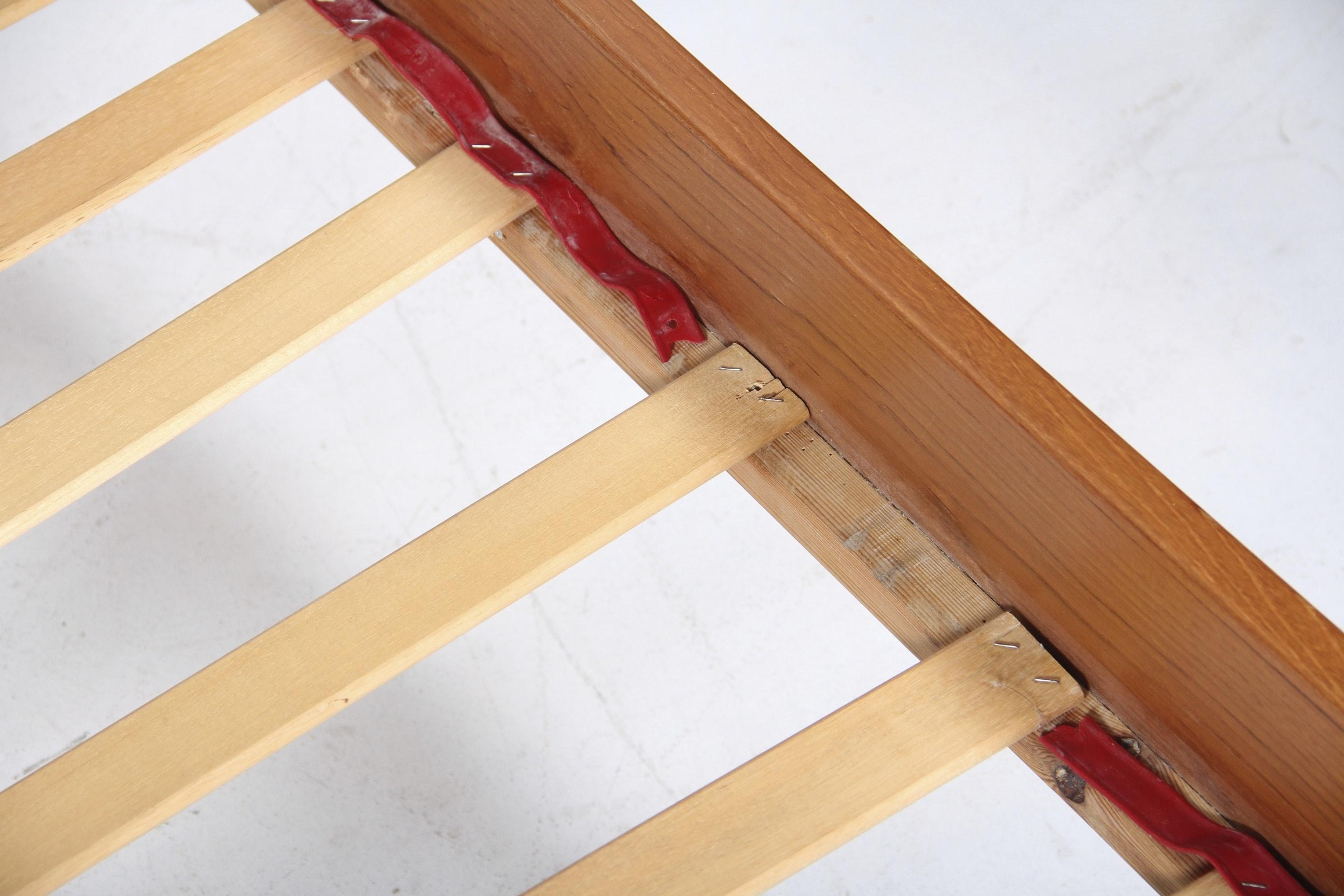 Mid Century Danish Modern Teak Queen Size Bed Frame By