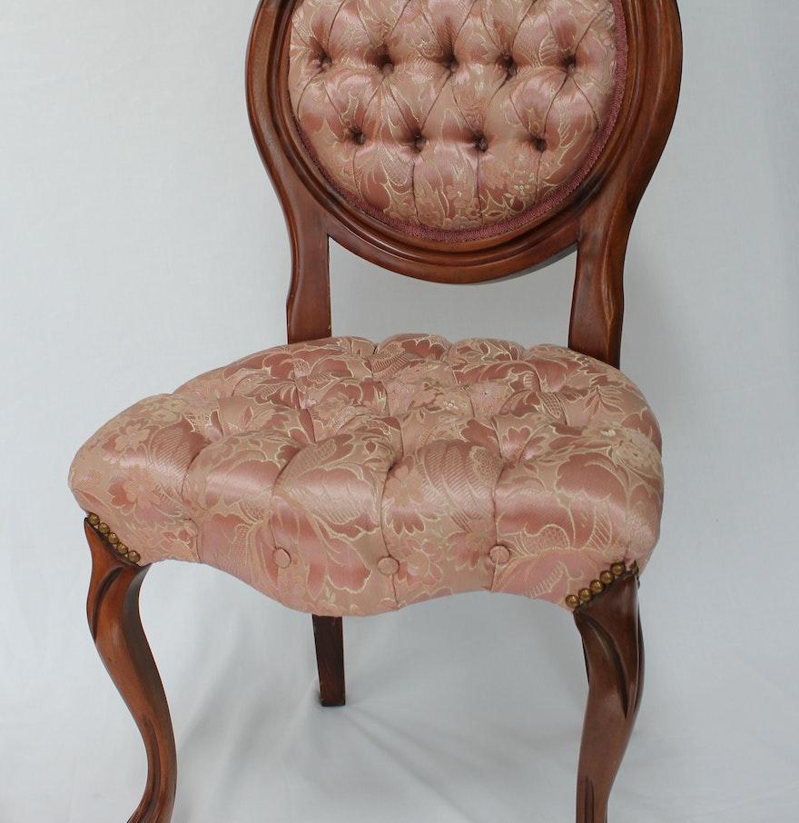 Antique slipper chair - Antique Carlton Mclendon Victorian Slipper Chairs