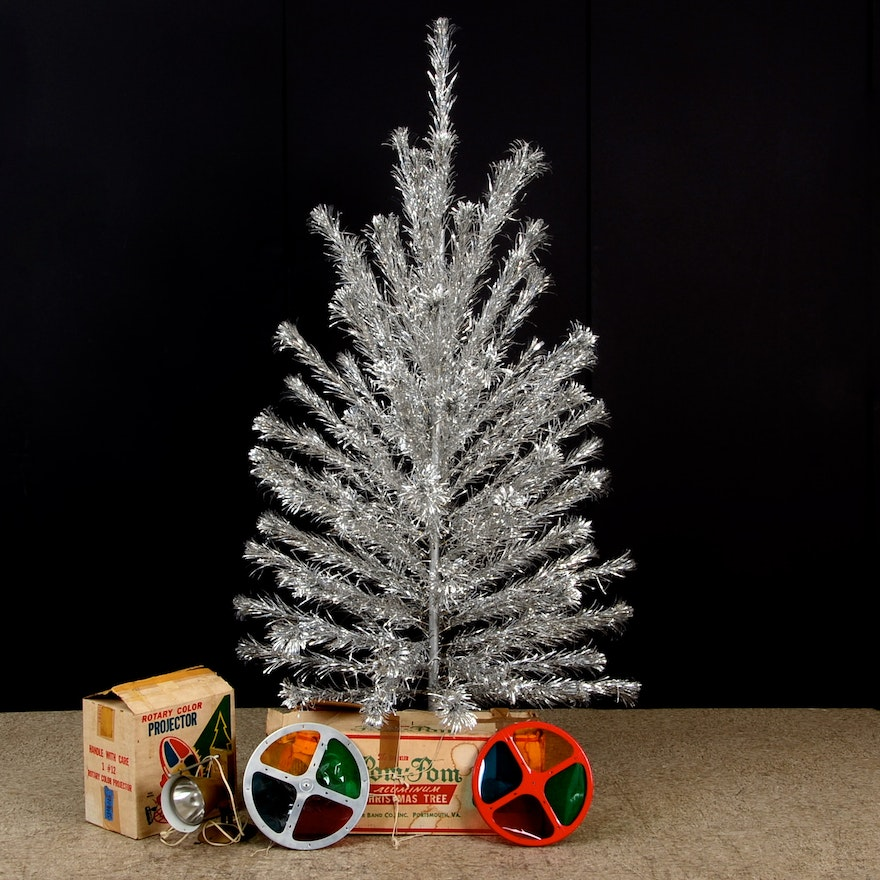 Color Wheel For Christmas Tree.Aluminum Christmas Tree And Color Wheels