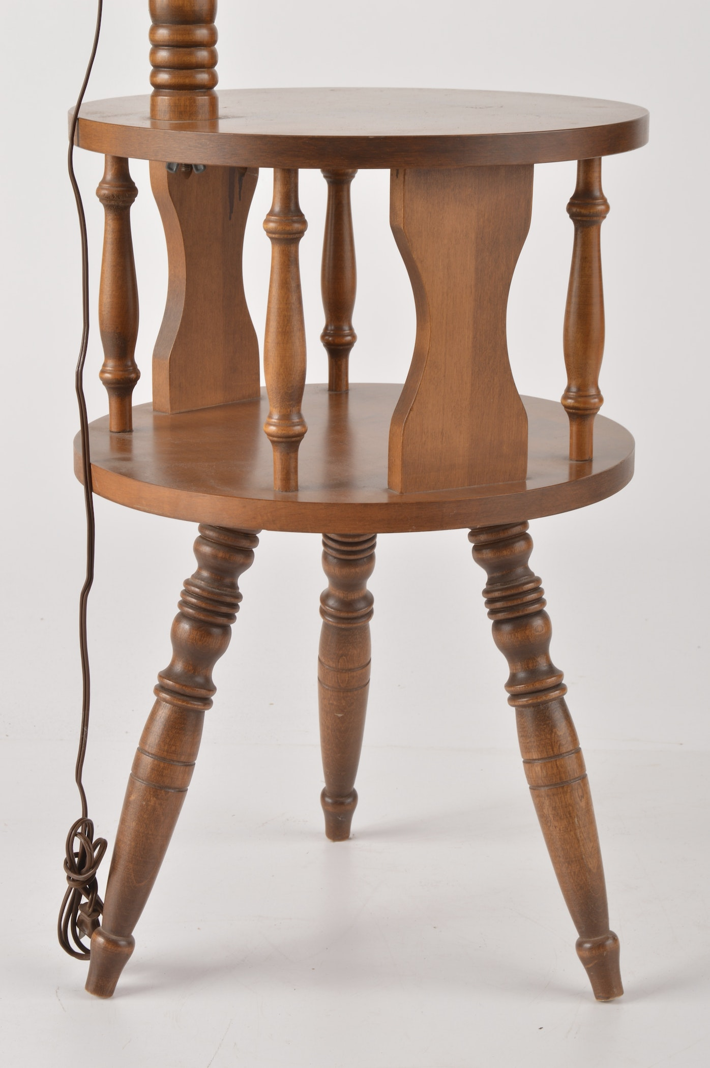 Two-Tier End Table with Built-In Lamp | EBTH