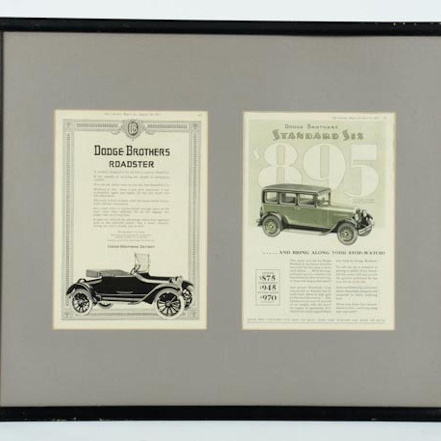 Vintage Framed Dodge Bros. Memorabilia : EBTH