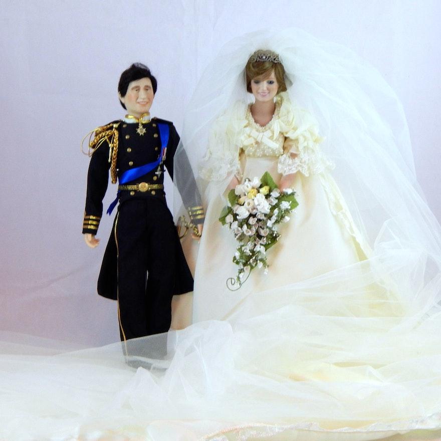 Danbury Mint Princess Diana & Prince Charles Wedding Dolls : EBTH
