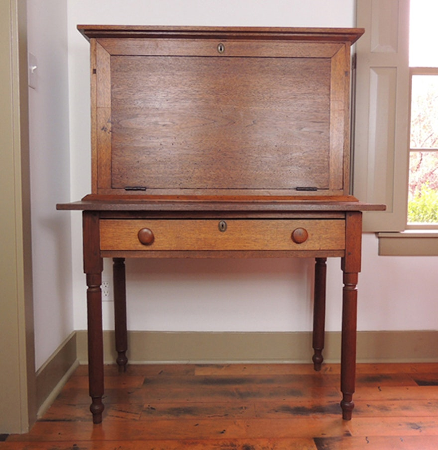 Antique 1800s Plantation Desk ... - Antique 1800s Plantation Desk : EBTH