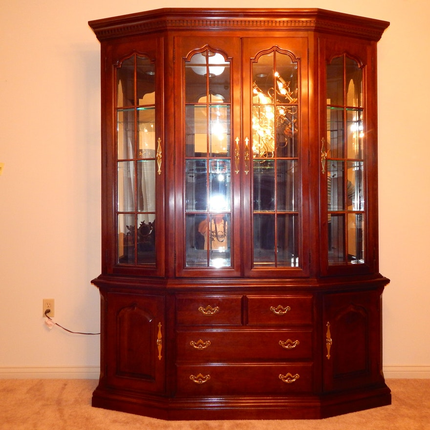 Formal Cherry China Cabinet By Thomasville