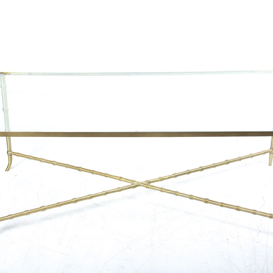 Nate Berkus Brass And Glass Coffee Table