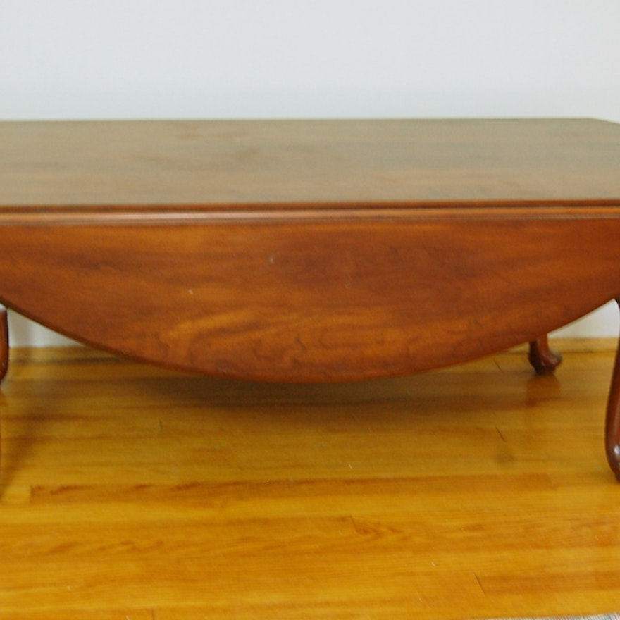 Henkel Harris Solid Cherry Coffee Table With Drop Leaves