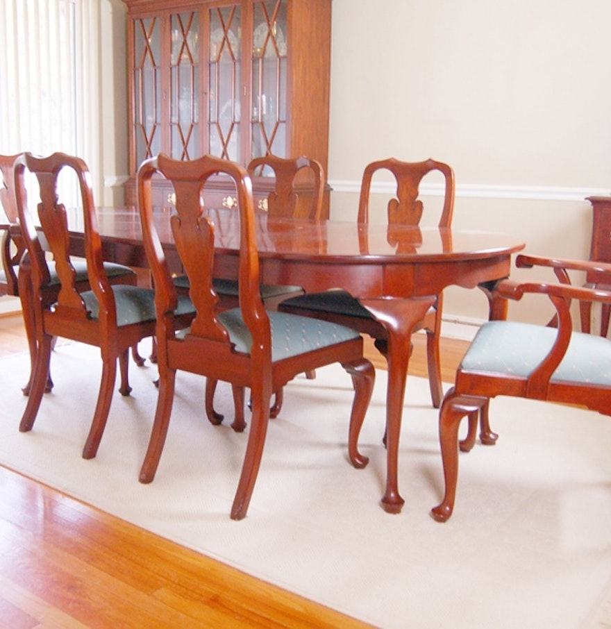 Henkel Harris Dining Table Henkel Harris Cherry Dining Table And Chairs In Queen Anne Style