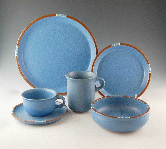 Dansk \ Mesa\  Sky Blue Stoneware Set ... & Dansk \