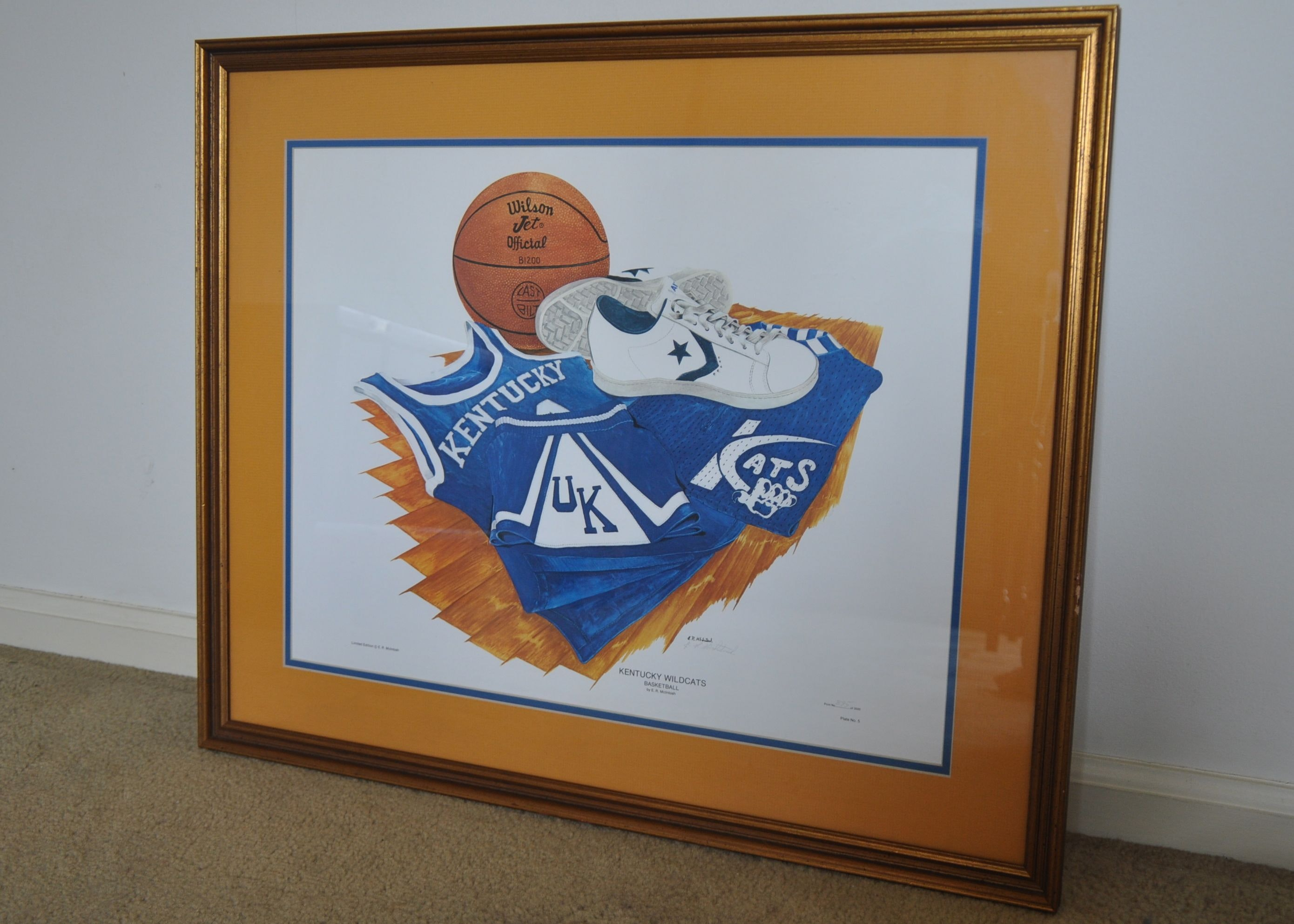 picture regarding Printable Uk Basketball Schedule identify Confined Version Kentucky Wildcats Basketball Print