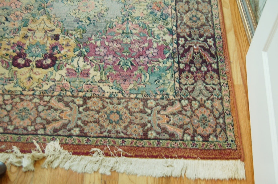 Awesome Floral Olefin Area Rug ...