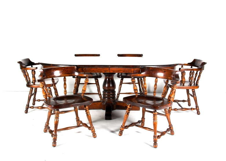 Vintage Ethan Allen Colonial Style Pine Dining Set ...