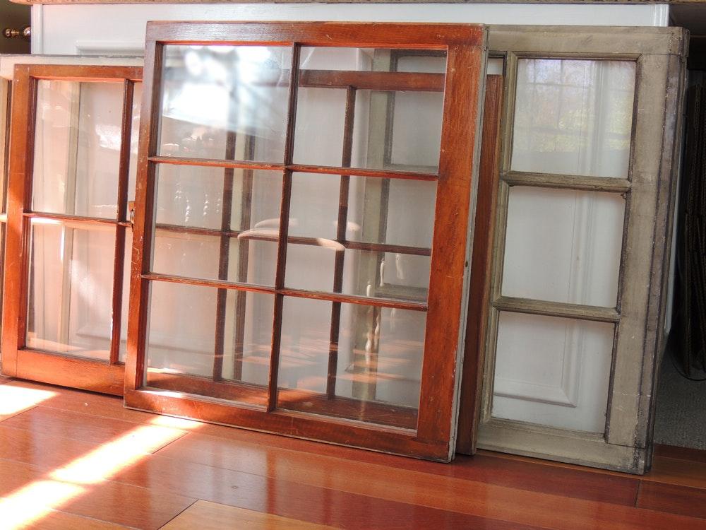 Single Pane Windows : Old single pane windows with wooden frames ebth