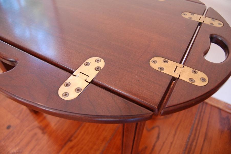 Ethan Allen Butler S Folding Tray Table Ebth