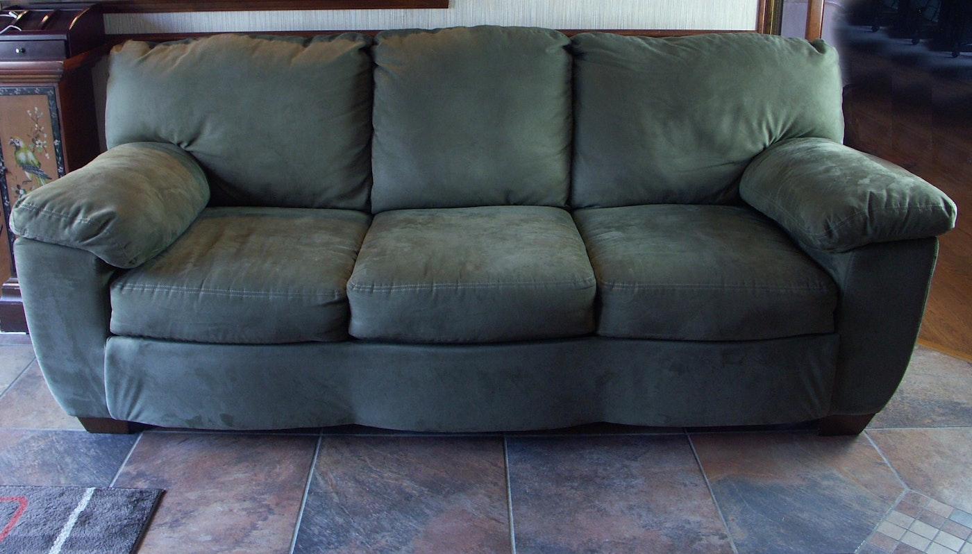 Ashley Furniture Contemporary Microfiber Sofa Hide A Bed