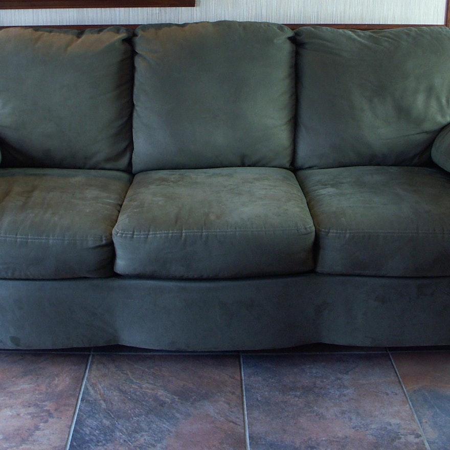 Ashley Furniture Contemporary Microfiber Sofa Hide A Bed Ebth
