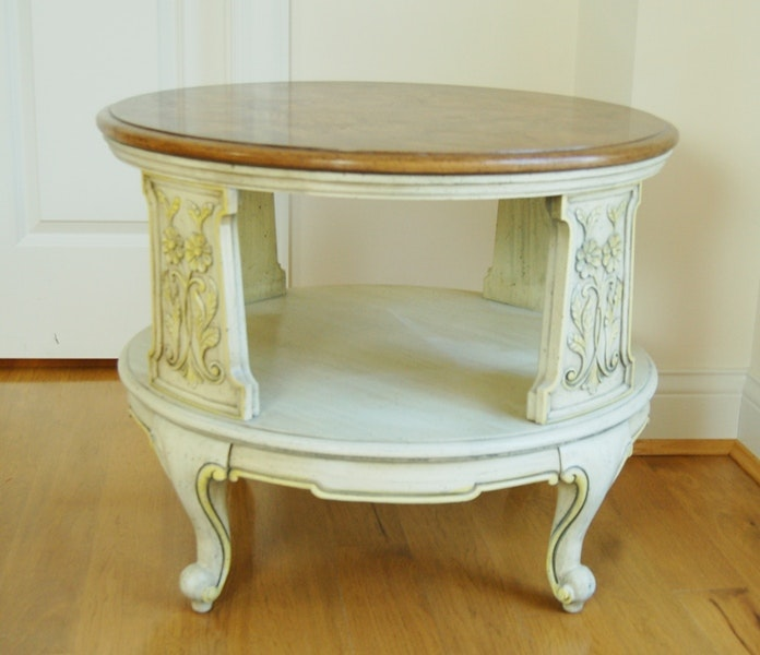 French Provencial Style Side Table By Weiman Ebth