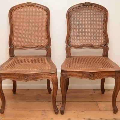 Antique French Wormy Chestnut Chairs - Vintage Chairs, Antique Chairs And Retro Chairs Auction In