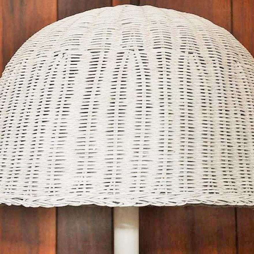 Vintage Wicker Floor Lamp Ebth