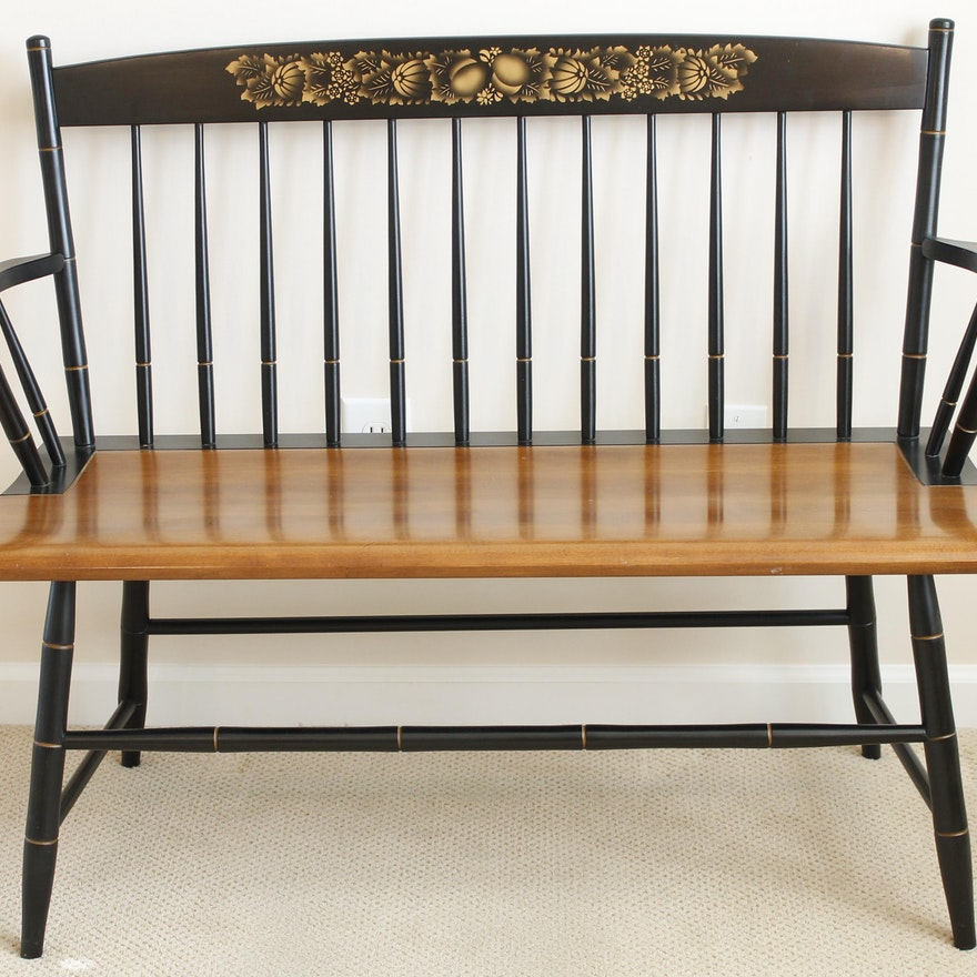 Phenomenal Contemporary Reproduced Hitchcock Style Bench Ocoug Best Dining Table And Chair Ideas Images Ocougorg