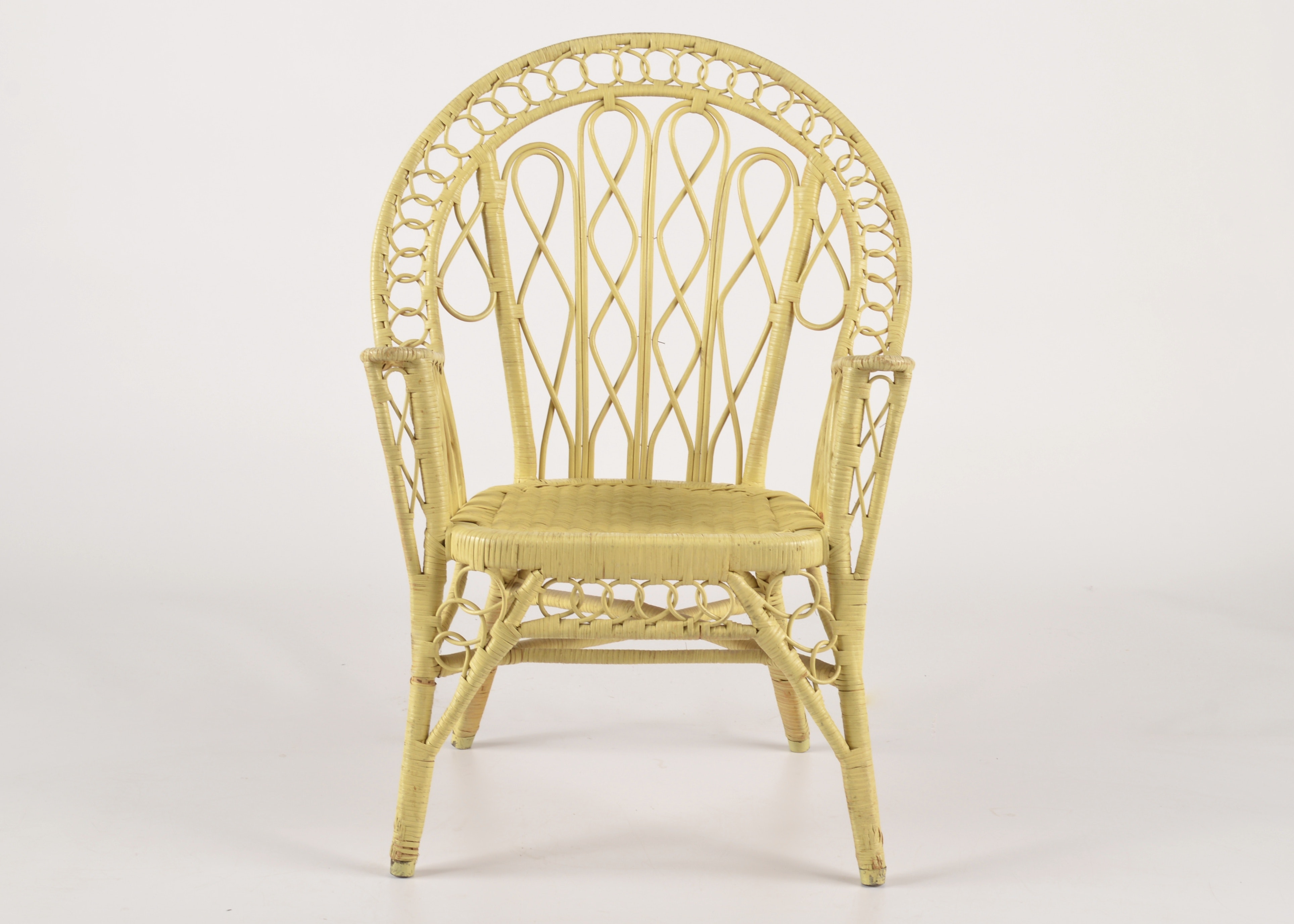 Canary Yellow Wicker Chair