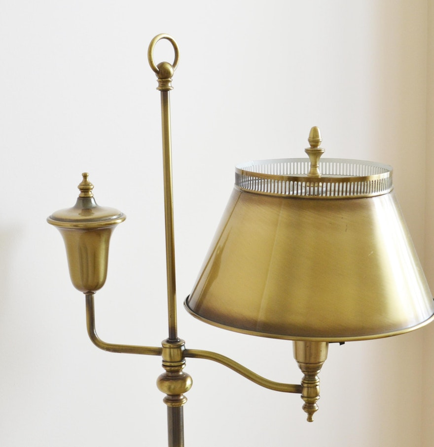 vintage rembrandt torchiere brass floor lamp ebth. Black Bedroom Furniture Sets. Home Design Ideas