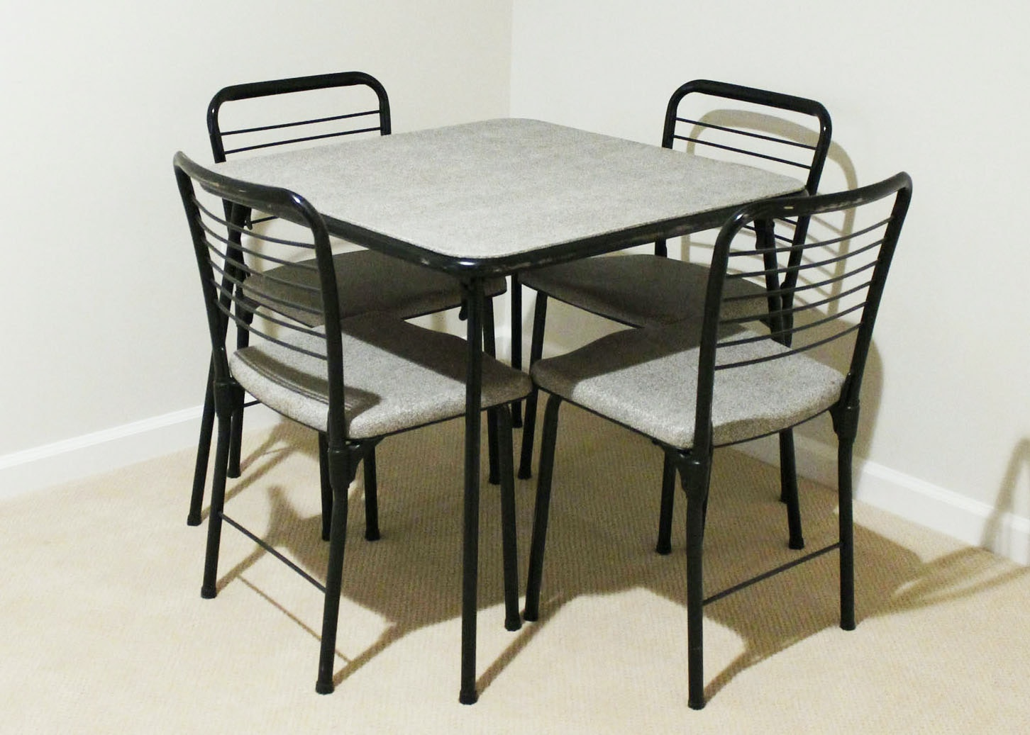 Vintage Cosco Fashion Fold Mid Century Card Table and Chairs EBTH