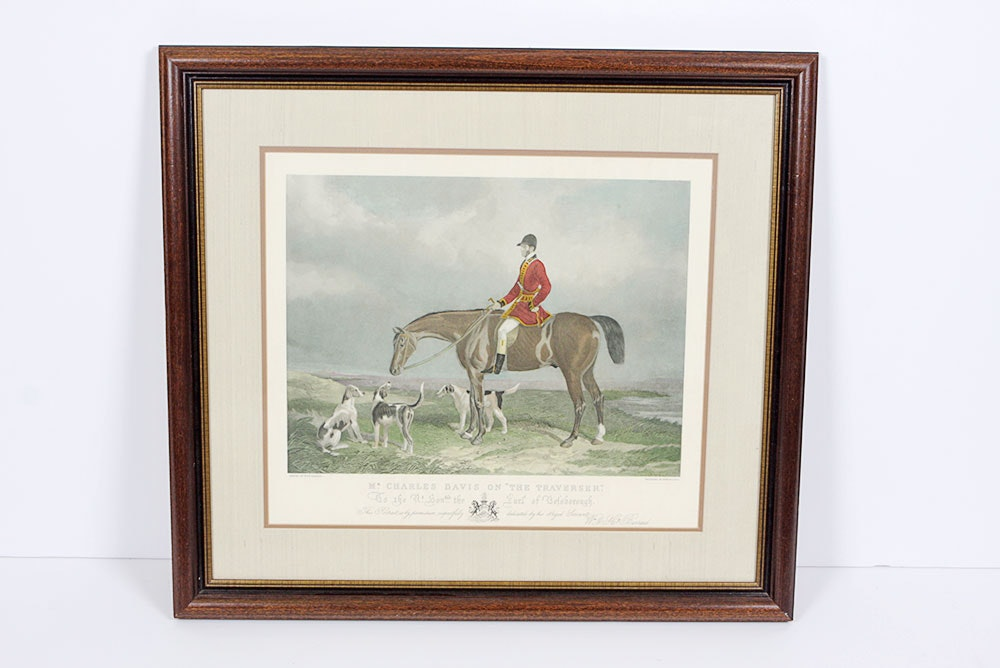 Equestrian Hunt Engraving By Edward Hacker Ebth
