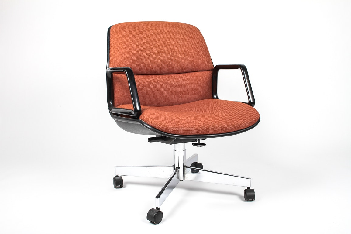 retro pollock style swivel office chair : ebth