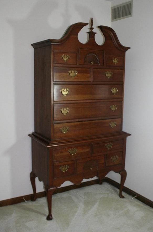 Queen Anne Style Highboy Dresser : EBTH