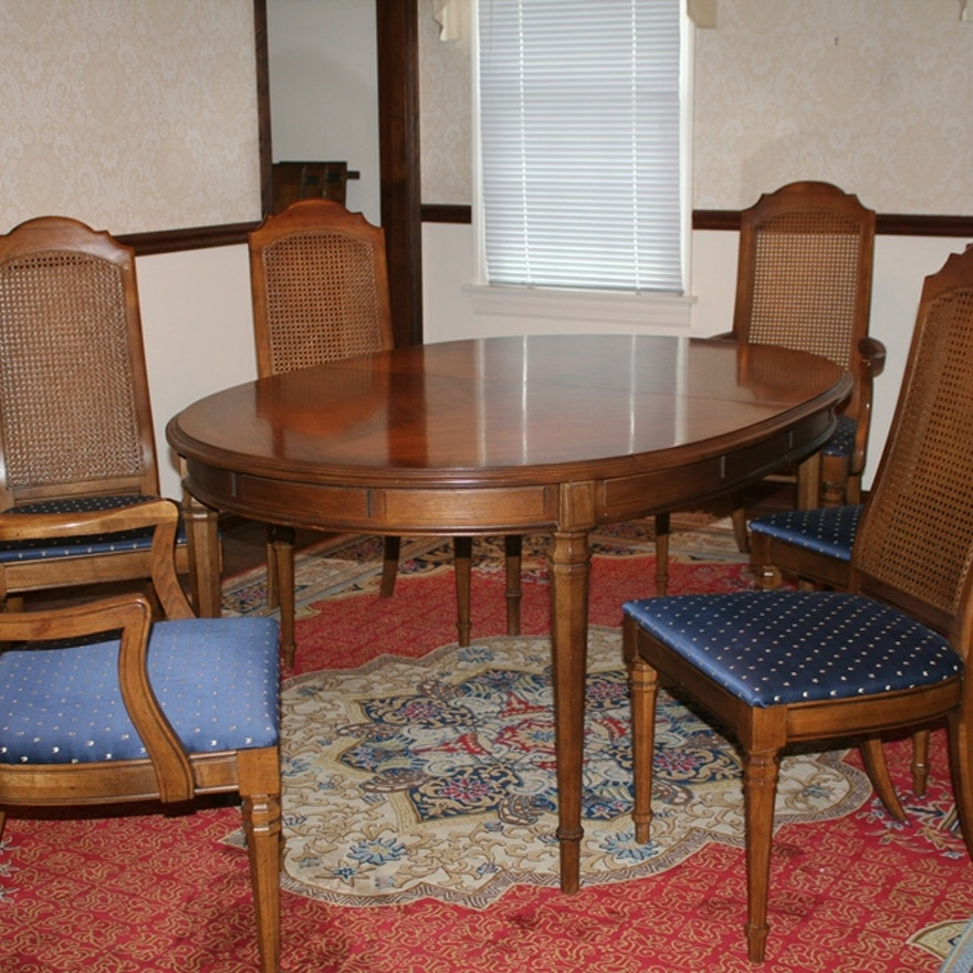 Enjoyable Vintage Drexel Dining Table And Chairs Bralicious Painted Fabric Chair Ideas Braliciousco
