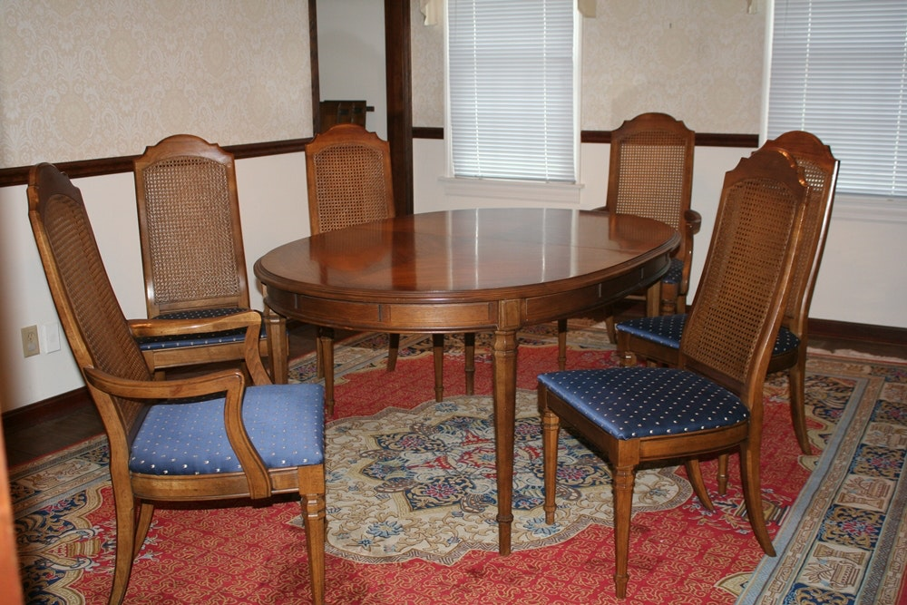 Vintage Drexel Dining Table And Chairs ...
