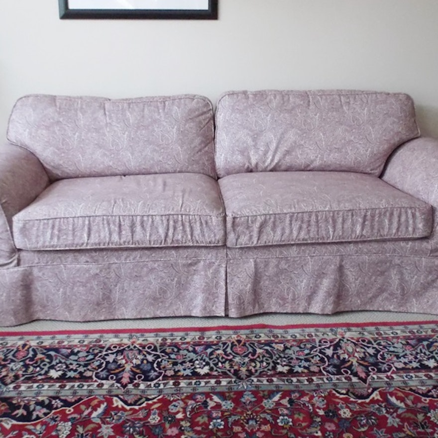 Hickory Fry Sofa With Slipcover