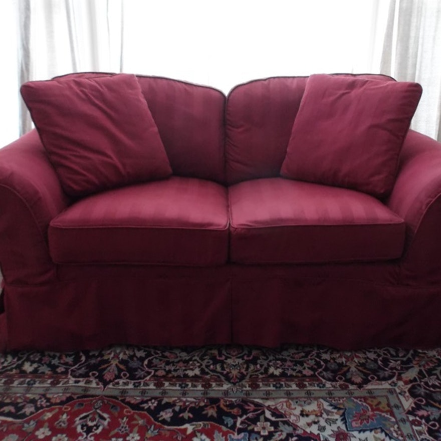 Hickory Fry Loveseat Sofa With Slipcover