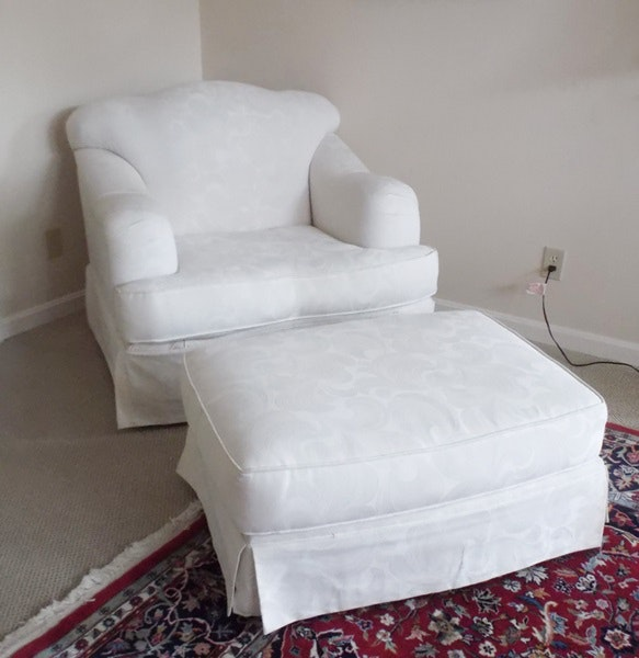 sofa express overstuffed armchair and ottoman