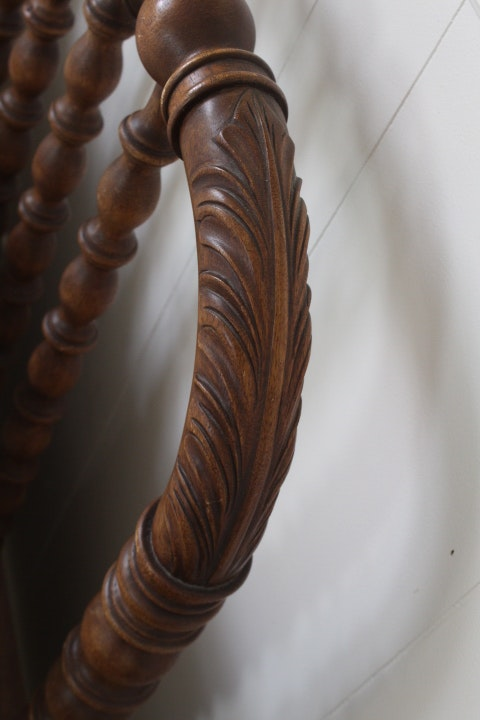Jenny Lind Ornately Carved Twin Bed Frame Circa 1900 Ebth
