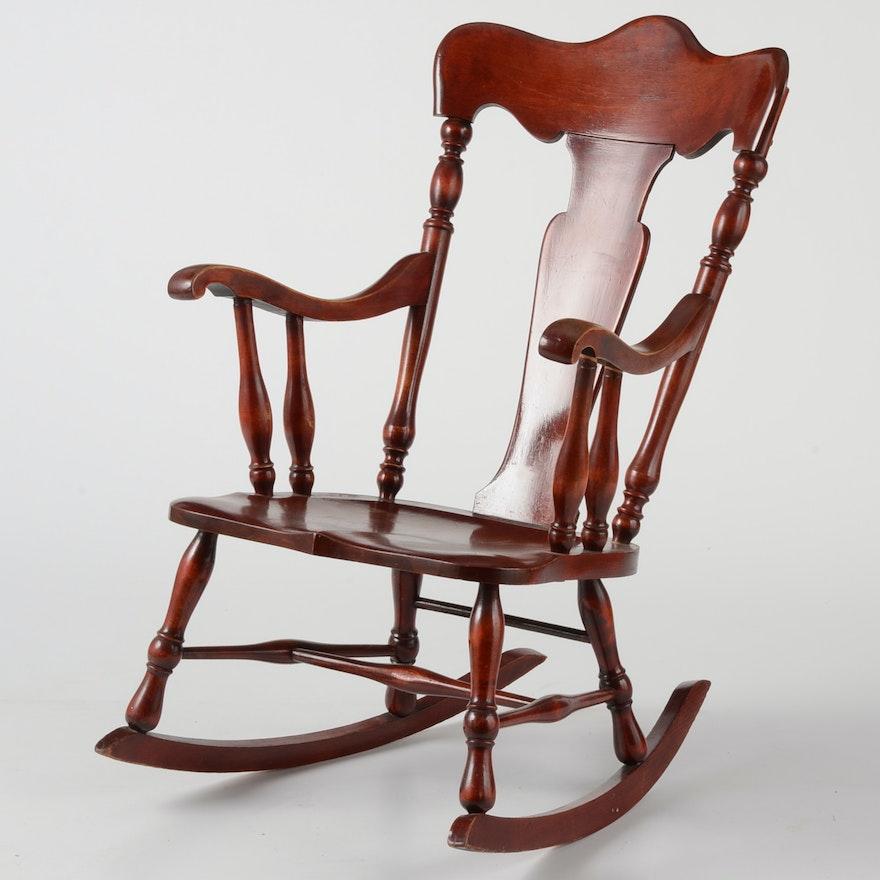 Astounding Fiddle Back Rocking Chair Beatyapartments Chair Design Images Beatyapartmentscom