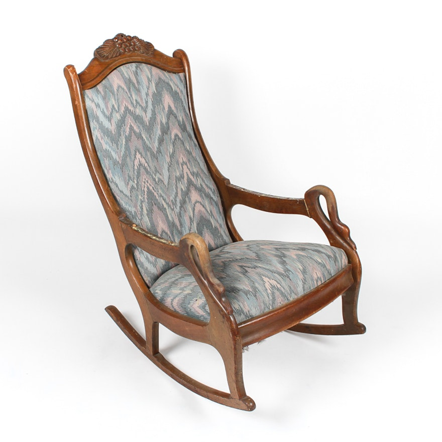 Admirable Early 20Th Century Gooseneck Rocking Chair Ibusinesslaw Wood Chair Design Ideas Ibusinesslaworg