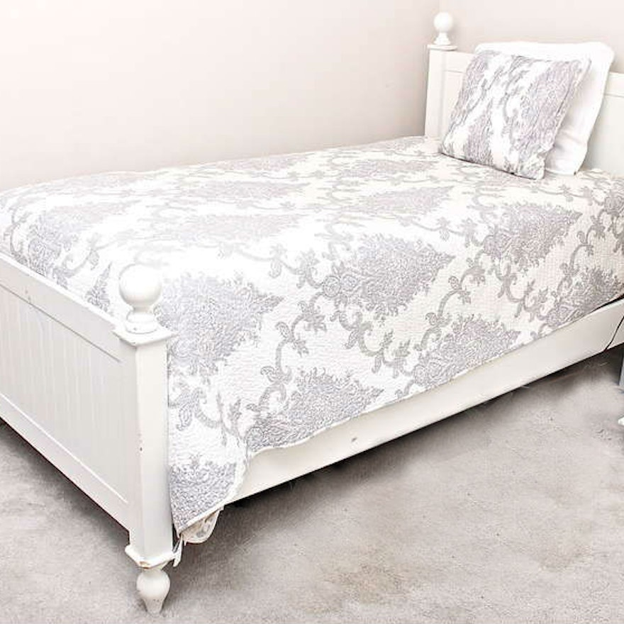 Pottery Barn Style White Twin Bed