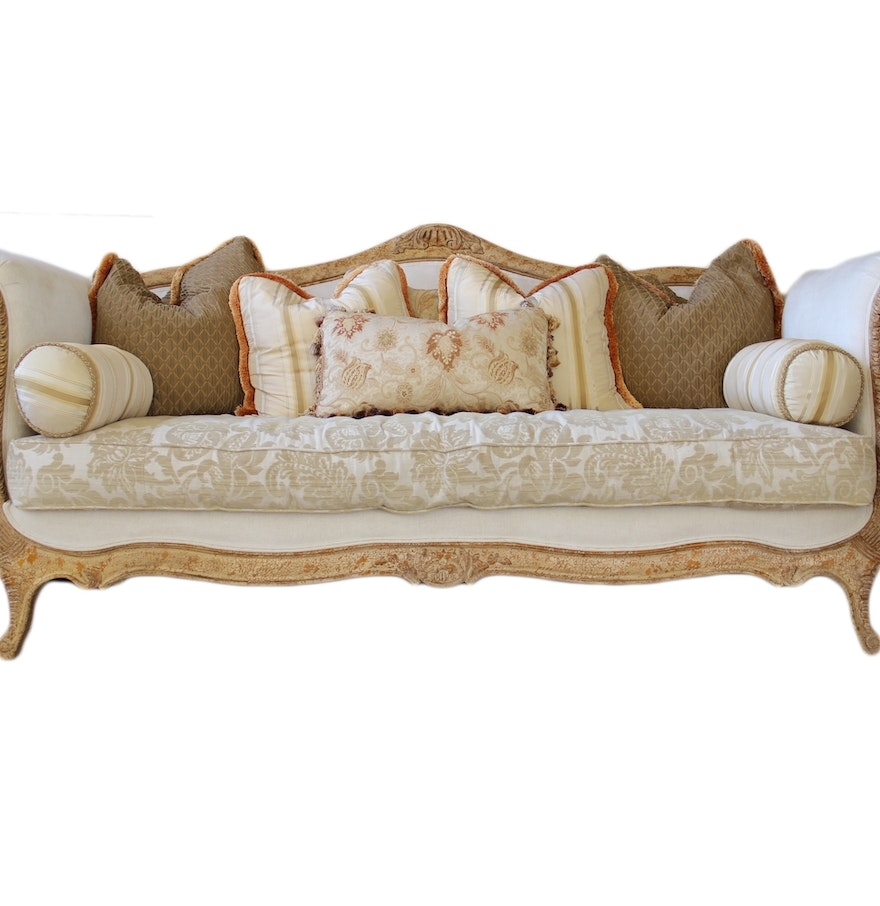 Drexel heritage louis xv style sofa ebth for Oriental furniture montreal