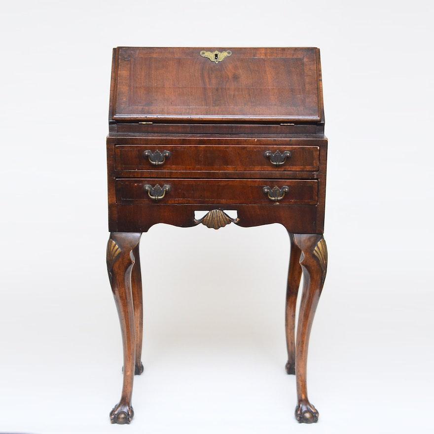 Ladies Antique Slant Top Writing Desk ... - Ladies Antique Slant Top Writing Desk : EBTH