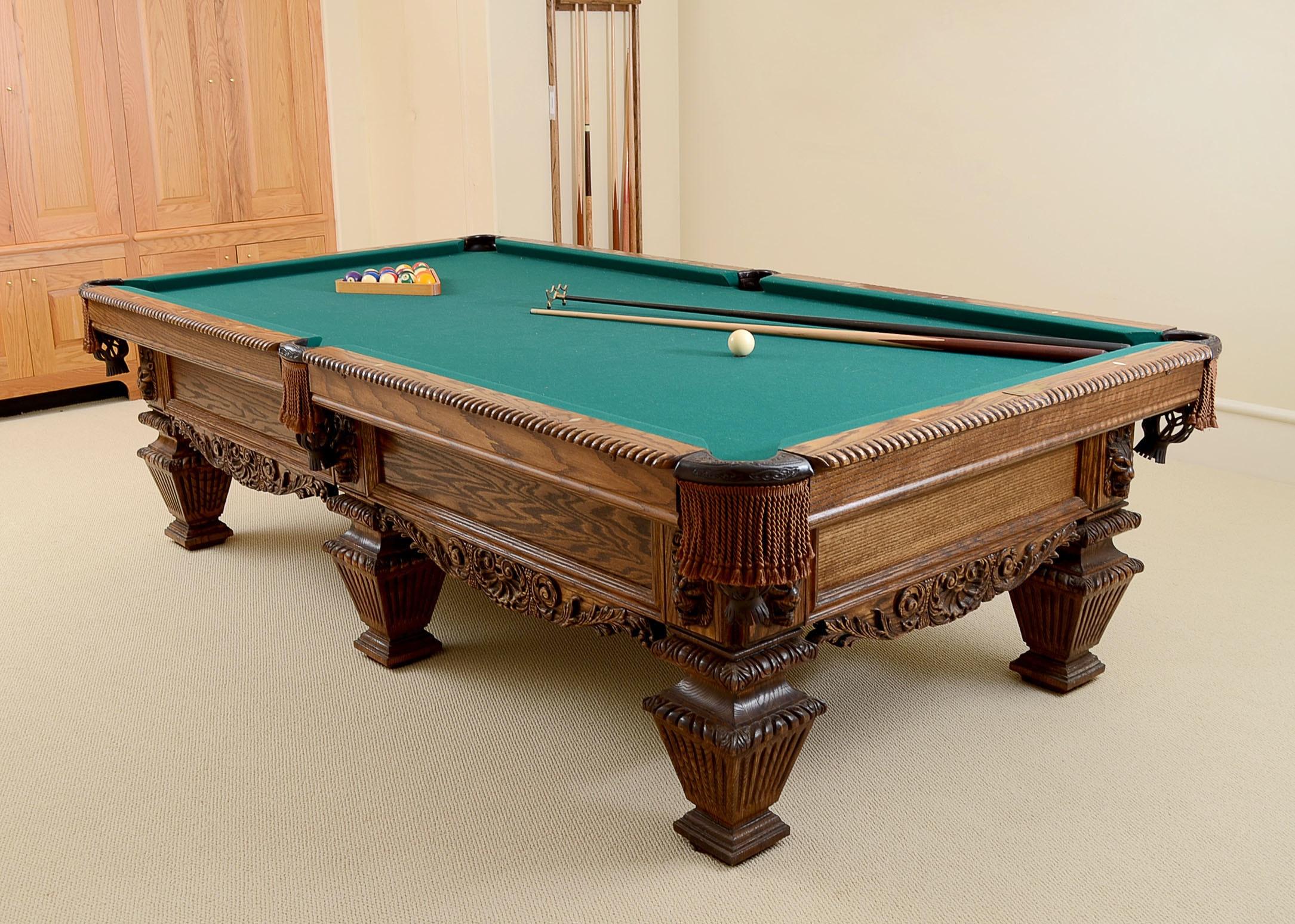 World Of Leisure Ornate Oak Pool Tabe ...