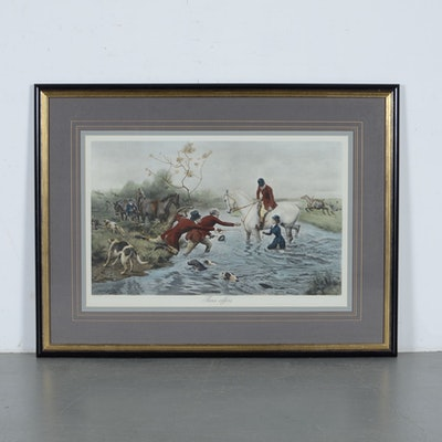 Vintage art prints art print auctions lithographs for sale in hand colored engraving of three offers by alfred solutioingenieria Choice Image