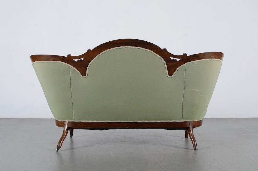 Victorian Sofa And Small Gout Stool Ebth
