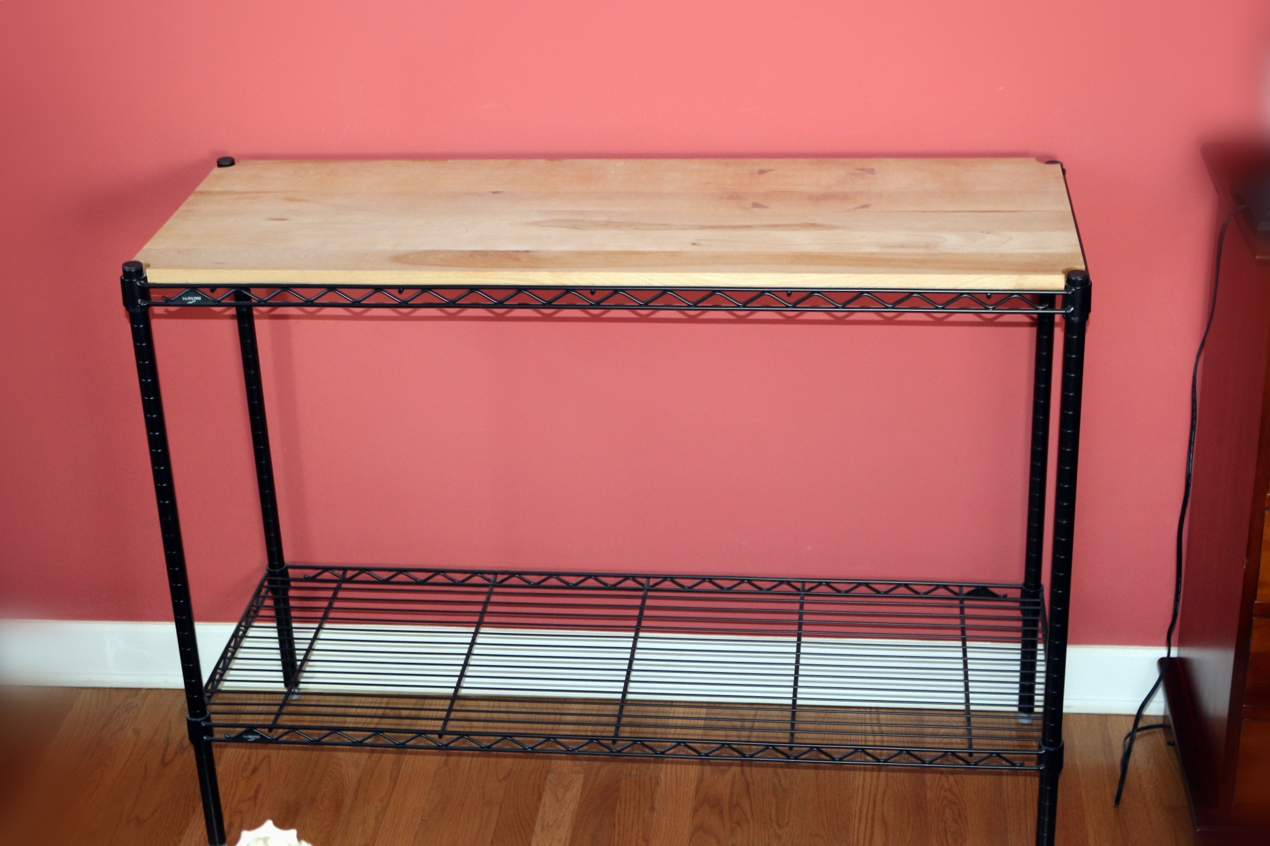 Attractive Wood Top And Wrought Iron Side Buffet Table ...