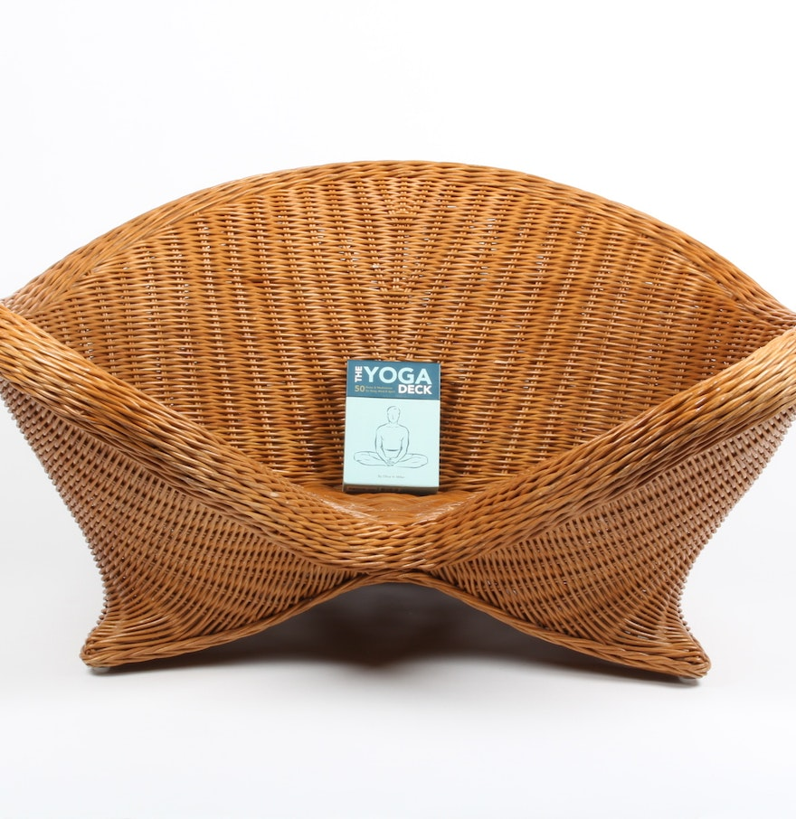 Wicker Meditation Chair And Yoga Deck : EBTH